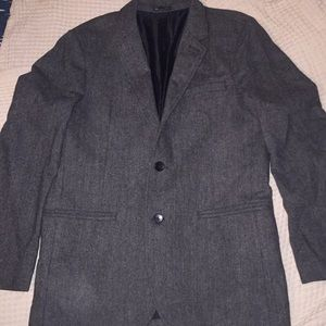 Gap Chevron Charcoal Grey and Black Wool Blazer
